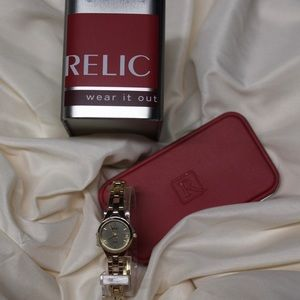 Ladies Relic Watch with Tin